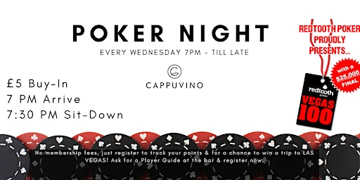 Cappuvino Poker Night - Lancaster