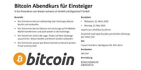 Professioneller Bitcoin Abendkurs Tickets