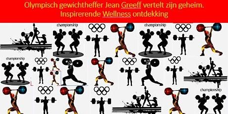 Zuid Afrikaanse Olympische gewichtheffer Jean Greeff deelt zijn succes. tickets