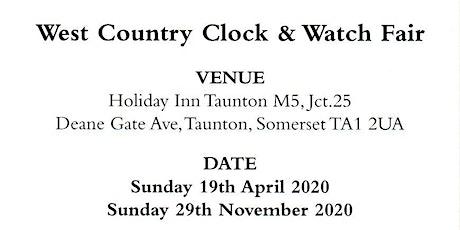 West Country Watch & Clock Fair tickets