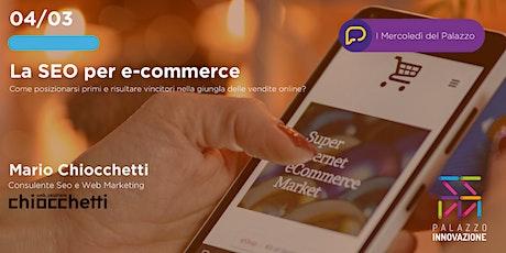 SEO per e-commerce biglietti