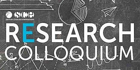 SCE Research Colloquium: Thema Quadruple Helix Innovation tickets