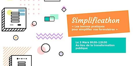 Simplificathon - Les bonnes pratiques pour simplifier vos formulaires billets
