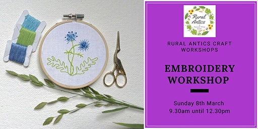 Beginners Embroidery Workshsop