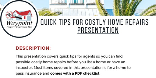 Quick Tips to Find Costly Home Repairs