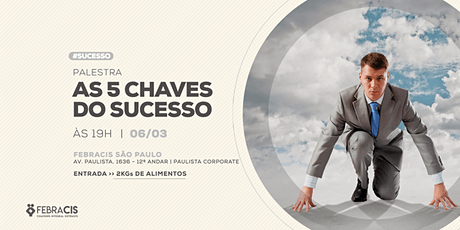 Palestra 5 Chaves do Sucesso ingressos