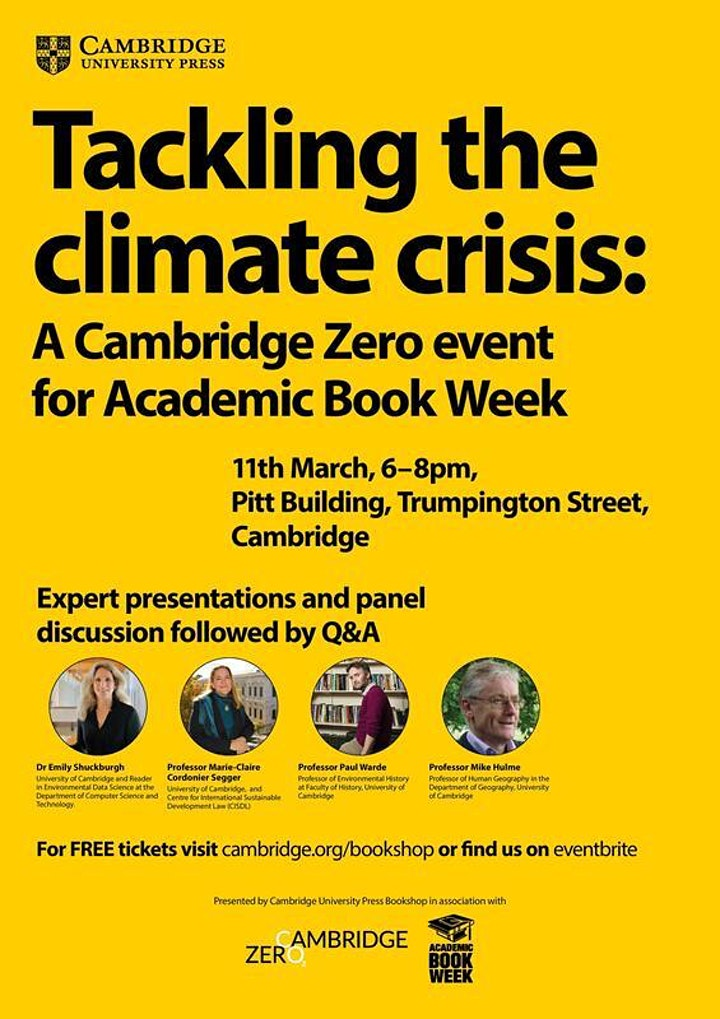 Tackling the Climate Crisis: A Cambridge Zero event for Academic Book Week image