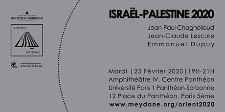 Orient 2020: Israël-Palestine, bilan et perspectives billets