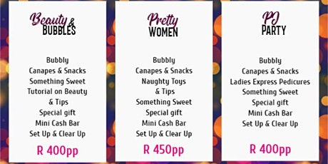 LADIES NIGHT PACKAGES tickets
