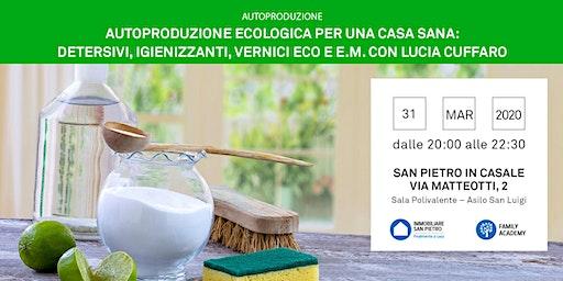 Seminario Autoproduzione Ecologia per una Casa Sana: Detersivi, Igienizzanti, vernici Eco e EM a cura di Lucia Cuffaro - gratuito - San Pietro in Casale (BO)