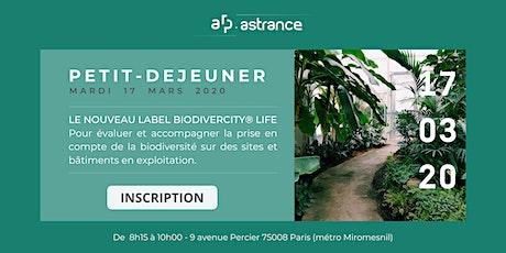 Petit-déjeuner : Le nouveau label BiodiverCity ® Life billets