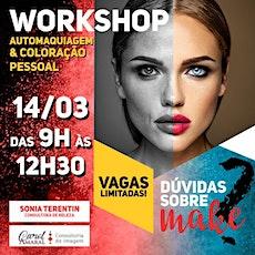 Workshop de Automaquiagem & Coloração Pessoal ingressos