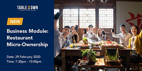 NEW Business Module: Restaurant Micro-Ownership (PG) tickets