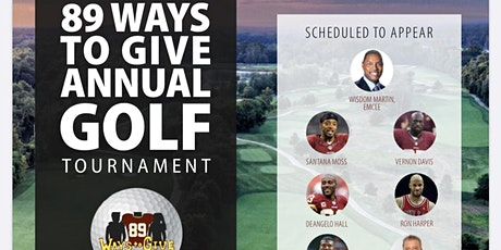 Santana Moss' 89 Ways to Give Charity Golf Tournament tickets