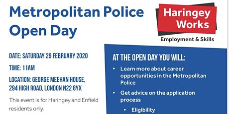 Haringey & Enfield Met Police Careers Open Day tickets