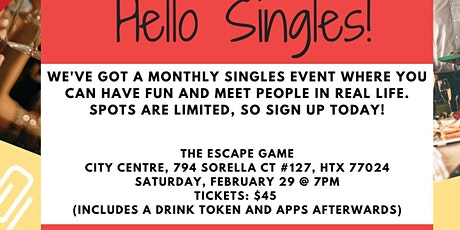 Singles Event - Escape + Mingle tickets