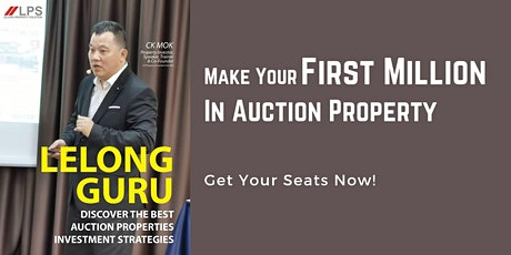 Make Your First Million In - Auction Property tickets