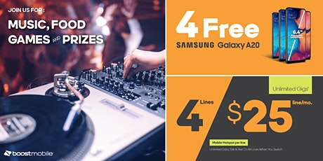 Come Party With Boost Mobile - Live DJ tickets