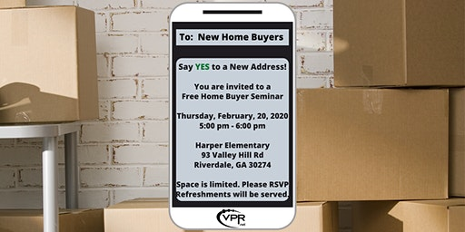 Home Buyer Seminar: Say YES to a New Address (*FREE*)