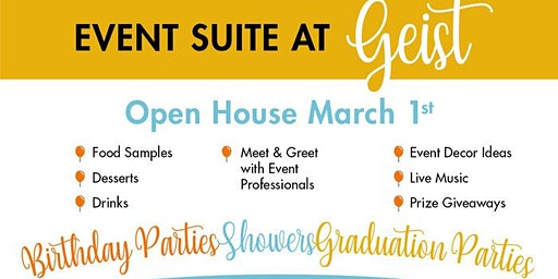 Open House for the Event Suite @ Geist