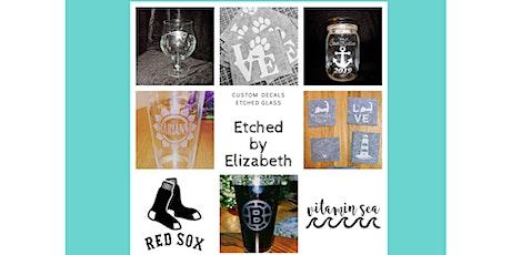 Glass Etching Workshop - 2 Glass Set tickets