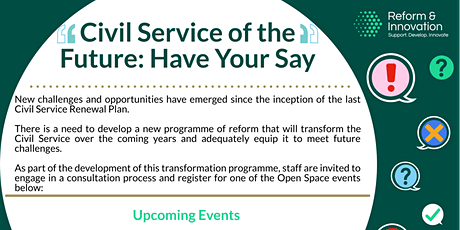 Civil Service Renewal 2030 - A vision for the future of the Civil Service tickets