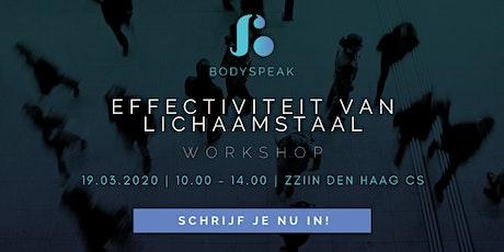 Workshop: Effectiviteit van Lichaamstaal tickets
