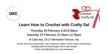 Crochet with Crafty Sal, Ayr (Thu 20 Feb) tickets