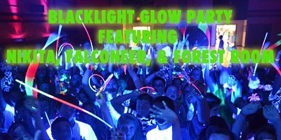 Blacklight Glow Party Featuring Nikita, Falconeer, and Forest Room