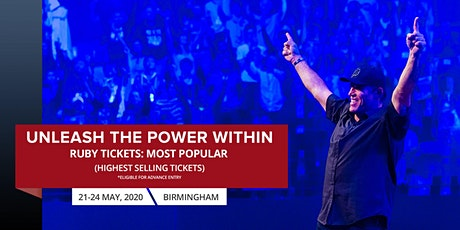 Tony Robbins Live in UPW Birmingham 2020 | Buy UPW Ruby Ticket tickets