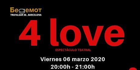 4 Love espectáculo de Paula Gapo entradas