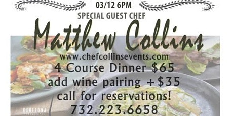 Chef Collins Events @ Scarborough Fair Restaurant Sea Girt NJ March 12th tickets