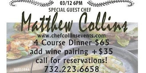 Chef Collins Events @ Scarborough Fair Restaurant Sea Girt NJ March 12th