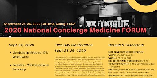 2020 Concierge Medicine FORUM | ATLANTA, GA USA