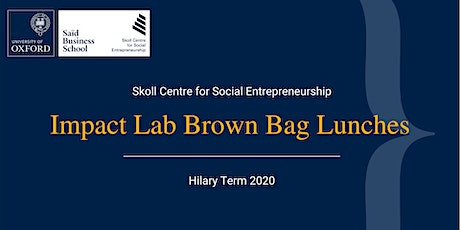 Impact Lab Brown Bag Lunches: Fireside Chat with Tara Sabre tickets