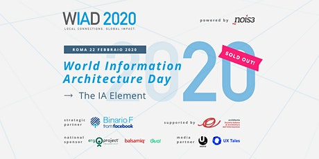 WIAD Rome 2020 - World Information Architecture Day tickets