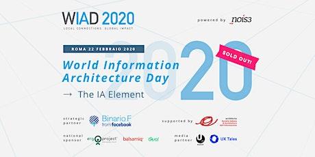 WIAD Rome 2020 - World Information Architecture Day biglietti