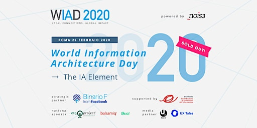 WIAD Rome 2020 - World Information Architecture Day