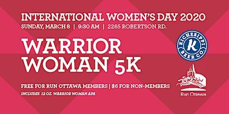 Run Ottawa's Warrior Woman 5K at Kichesippi Beer tickets