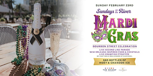 Mardi Gras Bourbon Street Celebration at The Wharf Fort Lauderdale