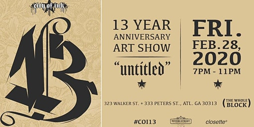 City of Ink's 13 Annual Anniversary Show: UNTITLED