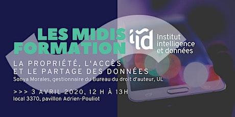 Midis-Formation de l'IID : Propriété, accès et partage des données billets