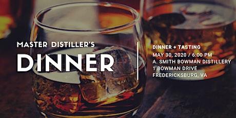 Master Distiller's Dinner tickets