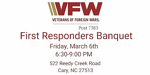 2020 Cary VFW Post 7383 First Responders Banquet