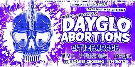 Dayglo Abortions, Citizen Rage tickets