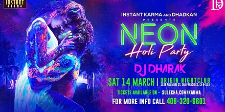 Neon Holi Party with India's DJ Dharak ,First Time Ever tickets
