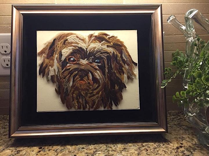 Create a Mosaic Pet Portrait Class - 3 day class image