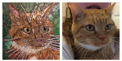 Create a Mosaic Pet Portrait Class - 3 day class