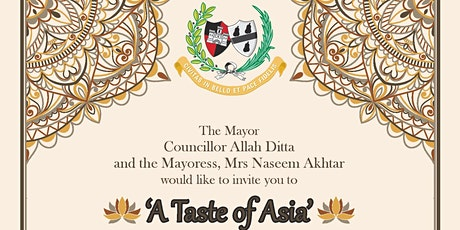 'A Taste of Asia'  The Mayor's Charity Banquet tickets