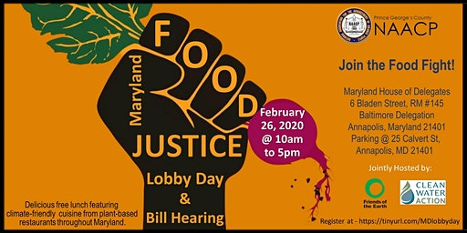 F0OD JUSTICE LOBBY DAY - NAACP PRINCE GEORGE'S COUNTY